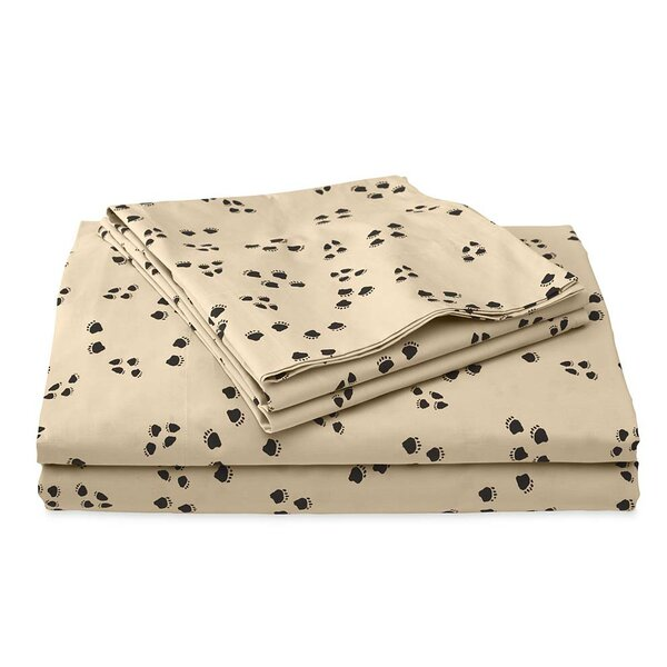 Paw Print 200 Thread Count 100% Cotton Sheet Set by Plow & Hearth